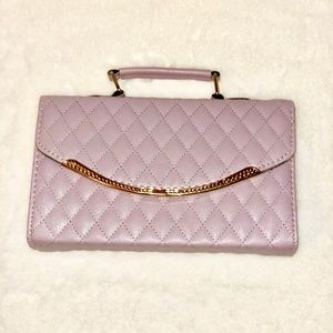 Handbags - LAVENDER QUILTED PURSE